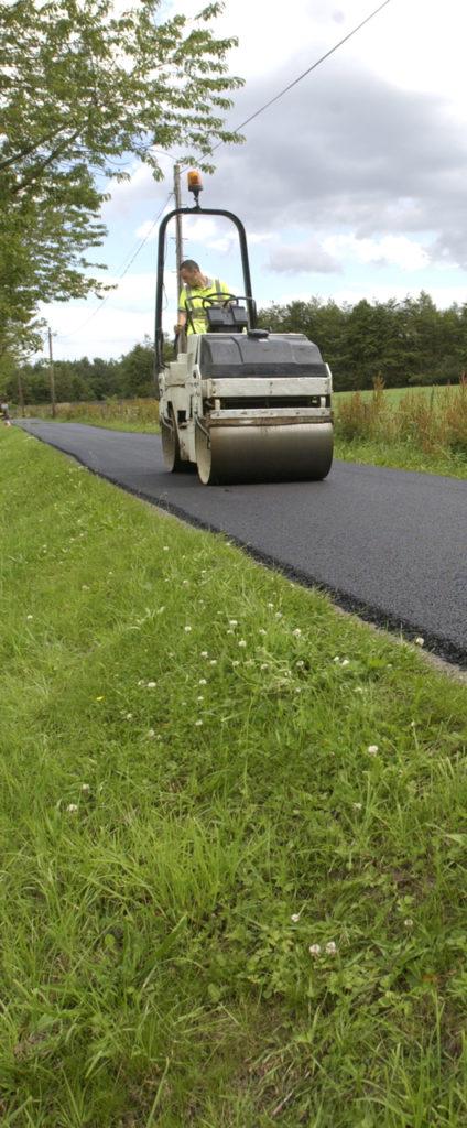 Lay road at Durham